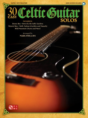 30 EASY CELTIC GUITAR SOLOS NOTES & TAB BK/CD