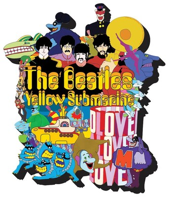 BEATLES YELLOW SUBMARINE CHUNKY MAGNET
