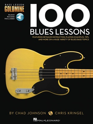 100 BLUES LESSONS BASS GTR GOLDMINE BK/OLA