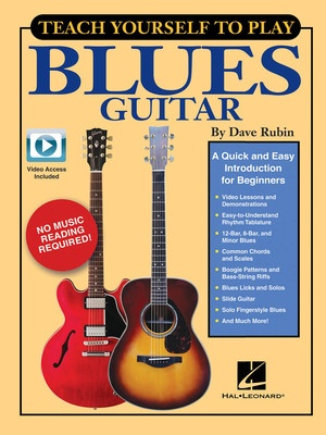 TEACH YOURSELF TO PLAY BLUES GUITAR BK/OLV