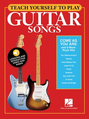 TEACH YOURSELF GUITAR COME AS YOU ARE BK/OLM