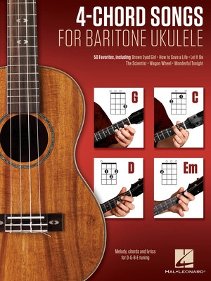 4 Chord Songs For Baritone Ukulele G C D Em Hal Leonard Australia