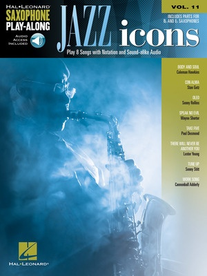 JAZZ ICONS SAX PLAYALONG V11 BK/OLA