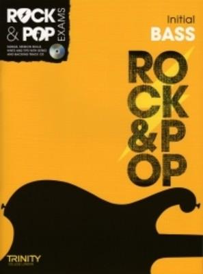 ROCK & POP EXAMS BASS INITIAL BK/CD