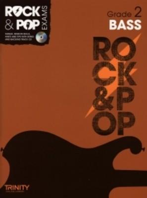 ROCK & POP EXAMS BASS GR 2 BK/CD
