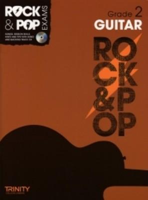 ROCK & POP EXAMS GUITAR GR 2 BK/CD