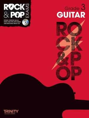 ROCK & POP EXAMS GUITAR GR 3 BK/CD