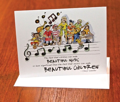 Beautiful Music, Beautiful Children Notecards