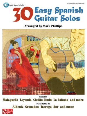 30 EASY SPANISH GUITAR SOLOS BK/CD