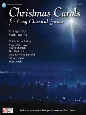 CHRISTMAS CAROLS FOR EASY CLASSICAL GUITAR TAB BK/OLA