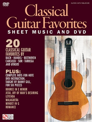 CLASSICAL GTR FAVORITES NOTES AND TAB BK DVD