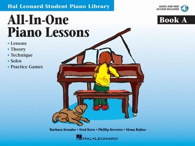 All-in-One Piano Lessons Book A - Book/OLA Pack