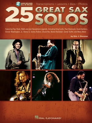 25 GREAT SAX SOLOS TENOR ALTO OR BAR SAX BK/CD
