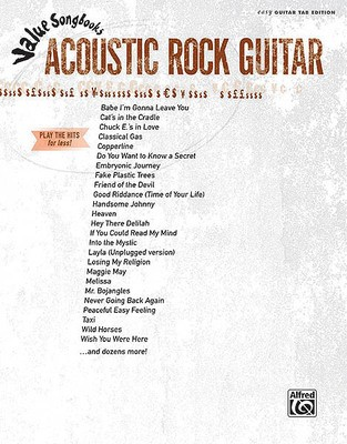 VALUE SONGBOOKS ACOUSTIC ROCK GUITAR TAB