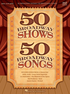 Cheap music books 50 broadway shows 50 broadway songs pvg fandeluxe Choice Image
