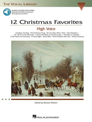 12 CHRISTMAS FAVORITES BK/CD HIGH VOICE