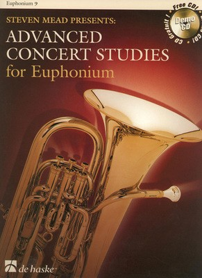 ADVANCED CONCERT STUDIES FOR EUPHONIUM BC BK/CD