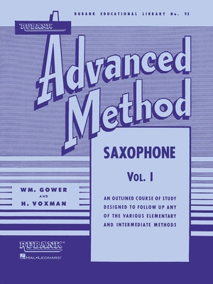 ADVANCED METHOD SAXOPHONE BK 1