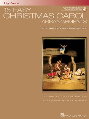 15 EASY CHRISTMAS CAROL ARRANGEMENTS HIGH BK/CD