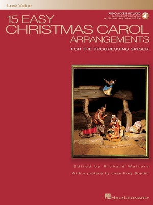 15 Easy Christmas Carol Arrangements - Low Voice