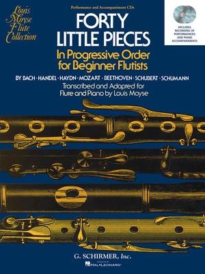 40 LITTLE PIECES FOR BEGINNER FLUTISTS CD