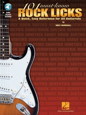 101 MUST KNOW ROCK LICKS BK/CD