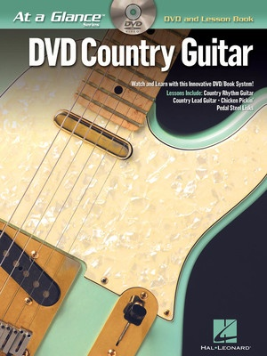 AT A GLANCE COUNTRY GUITAR BK/DVD