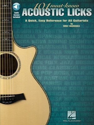 101 MUST KNOW ACOUSTIC LICKS BK/OLA