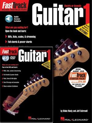 FASTTRACK GUITAR STARTER PACK BK/OLA & DVD