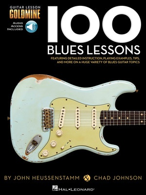 100 BLUES GUITAR LESSONS GOLDMINE BK/2CD
