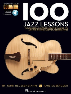 100 JAZZ GUITAR LESSONS GOLDMINE BK/2CD
