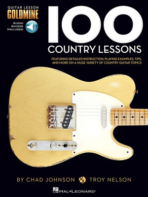 100 COUNTRY GUITAR LESSONS GOLDMINE BK/2CD