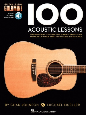 100 ACOUSTIC GUITAR LESSONS GOLDMINE BK/2CD