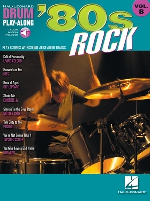 80S ROCK DRUM PLAY ALONG BK/CD V8