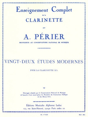 22 Modern Studies For Solo Clarinet