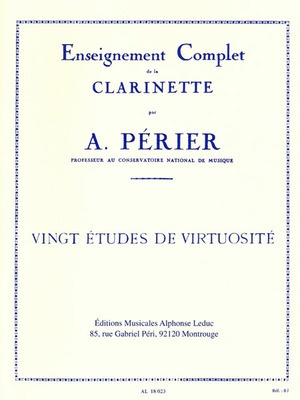20 Virtuosic Etudes For Clarinet
