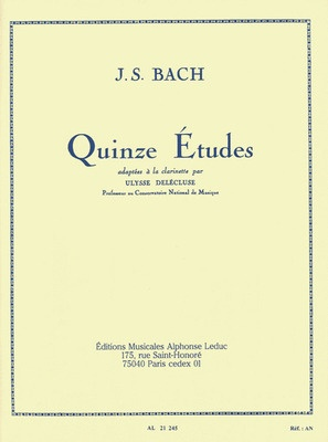 15 Etudes after J.S. Bach for Clarinet