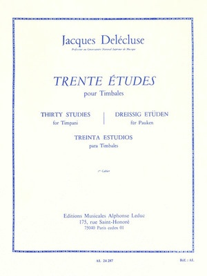 30 Studies for Timpani Vol. 1
