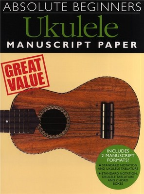Absolute Beginners - Ukulele Manuscript Paper