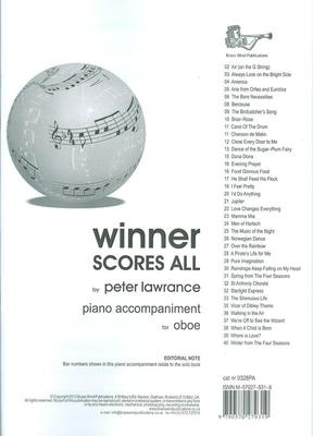 WINNER SCORES ALL FOR OBOE PIANO ACCOMP