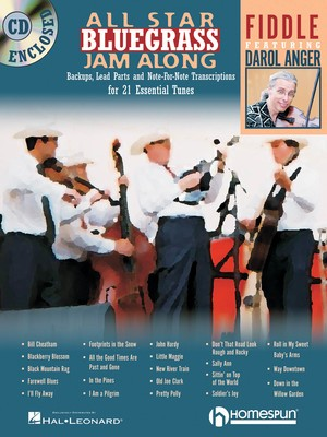 ALL STAR BLUEGRASS JAM ALONG FOR FIDDLE BK/CD