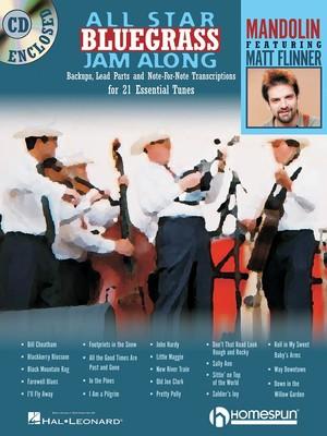 ALL STAR BLUEGRASS JAM ALONG FOR MANDOLIN BK/CD
