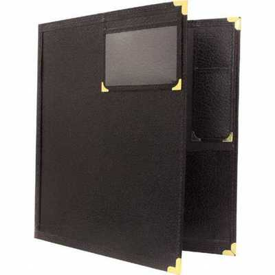 BAND FOLDER 12X14 WINDOW & PENCIL POCKET BLACK