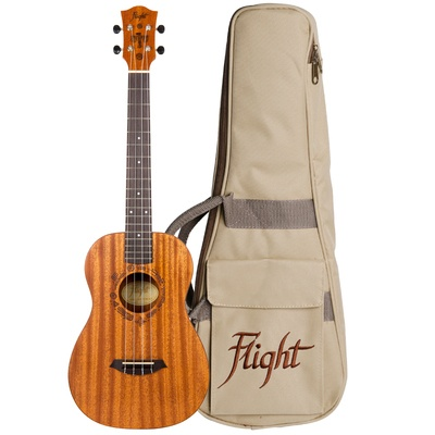 Flight DUB38 Electro-Acoustic Baritone Ukulele with Bag
