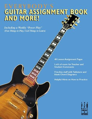 EVERYBODYS GUITAR ASSIGNMENT BOOK AND MORE