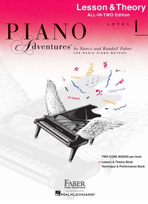 PIANO ADVENTURES ALL IN TWO 1 LESSON THEORY