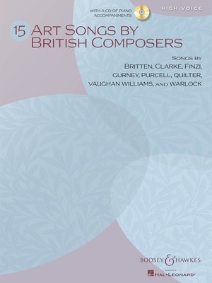 ART SONGS 15 BY BRITISH COMPOSERS HIGH BK/CD