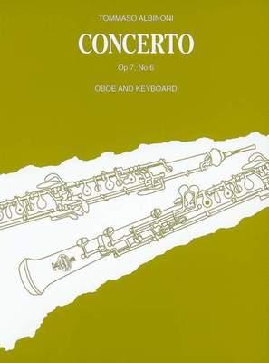 ALBINONI   CONCERTO OP 7 NO 6 OBOE/PIANO