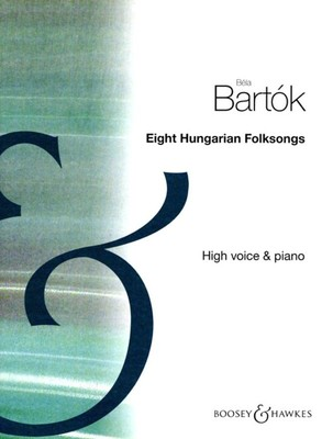 BARTOK   8 HUNGARIAN FOLK SONGS HIGH VOICE/PIANO