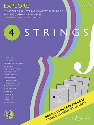 4 STRINGS   EXPLORE BK 2 STRING QUARTET SC/PTS/CD